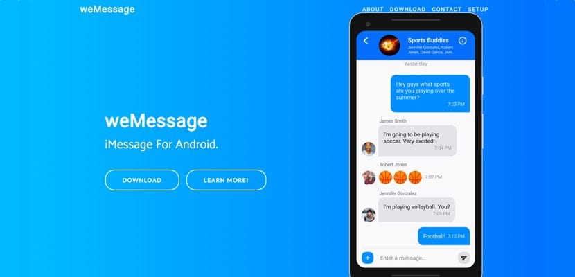 weMessage iMessage en Android