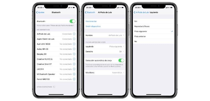 Cómo configurar los controles de los AirPods en iOS 11