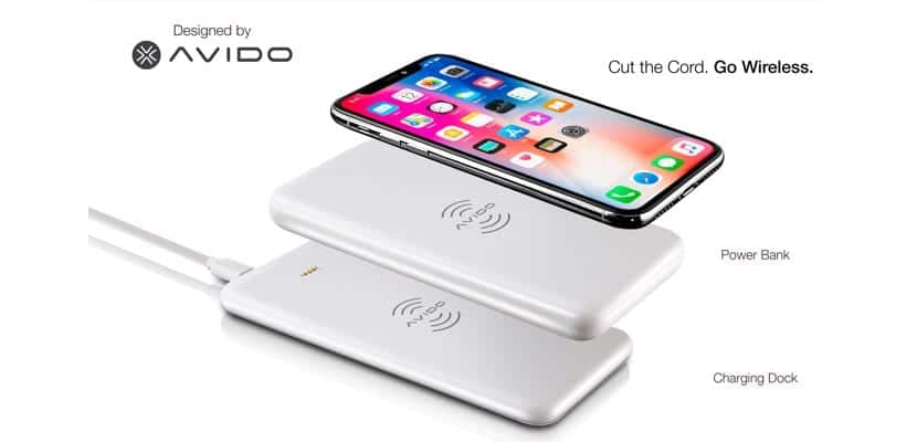 Avido WiBa cargador Qi para iPhone X
