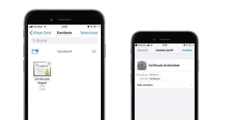 Cómo instalar el certificado digital en el iPhone