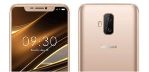 Doogee V clon del iPhone X
