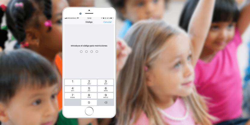 Activar las restricciones en iOS
