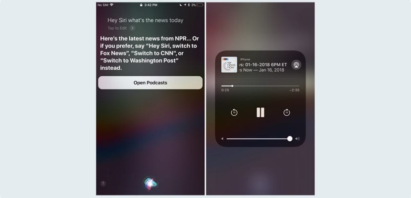 Siri función podcast para noticias