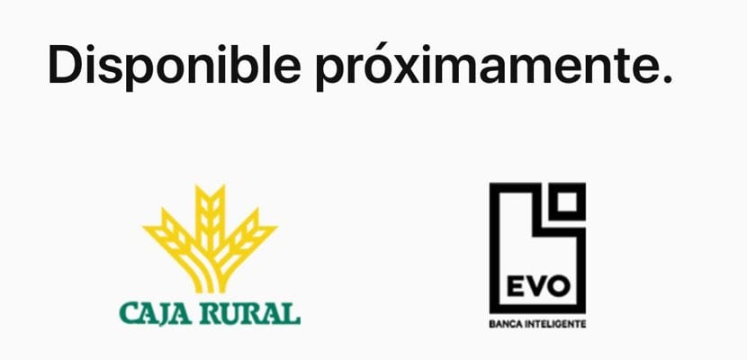 EVO y Caja Rural compatible con Apple Pay
