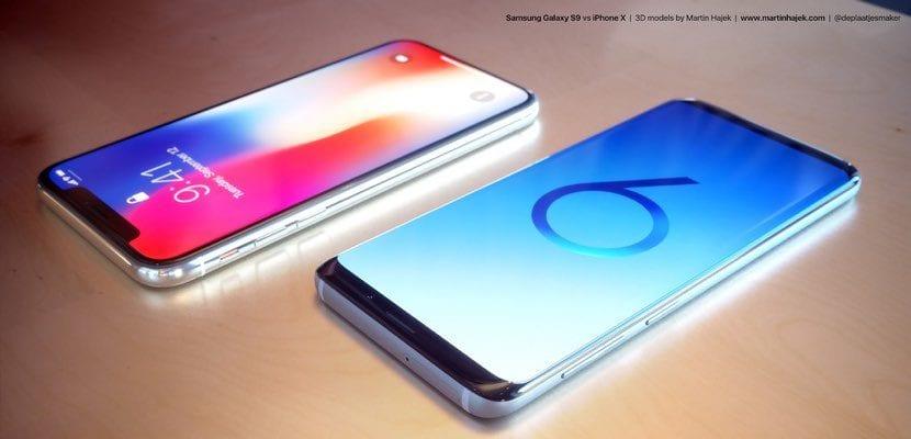 Galaxy S9 de Samsung vs iPhone X imagen2