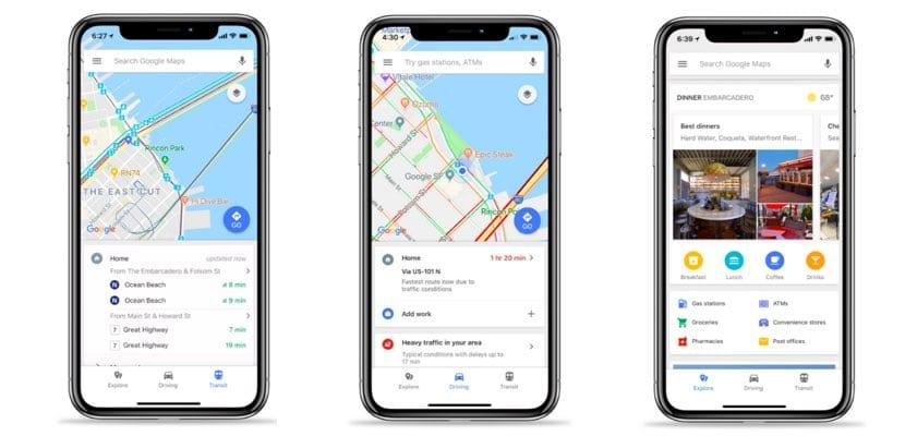 nuevas funciones Google Maps en iOS