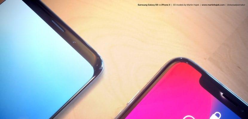 Galaxy S9 vs iPhone X imagen1
