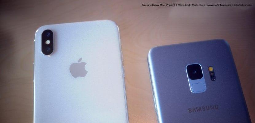 traseras Galaxy S9 vs iPhone X