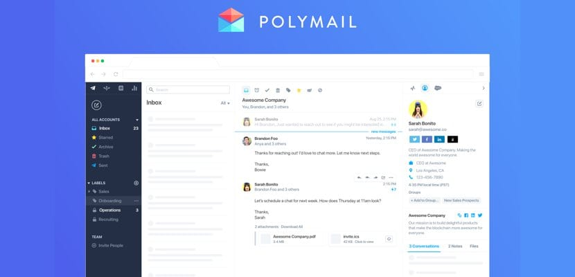 Polymail Web acceso Windows