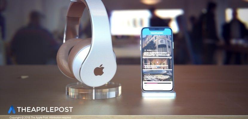 Auriculares over ear Apple concept