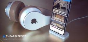 Concept auriculares diadema Apple