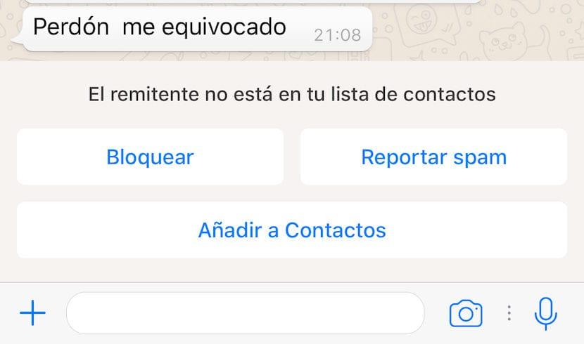 bloquear número de WhatsApp que no está en la agenda