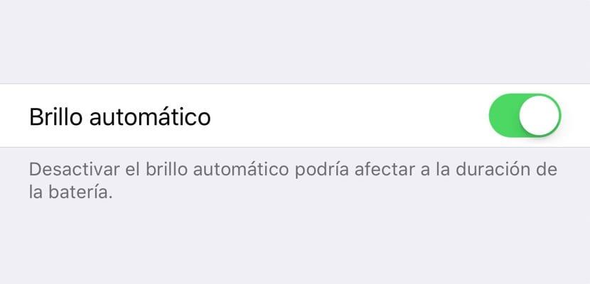 Brillo automático en iOS™ 11
