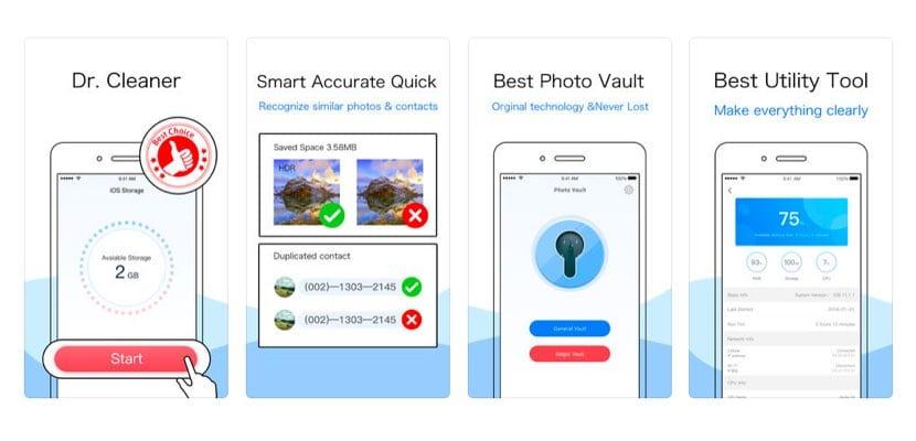 funciones de DR. Cleaner para iOS