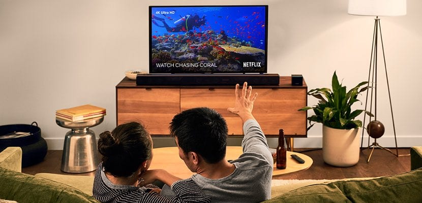 Amazon Fire TV Cube en el salón
