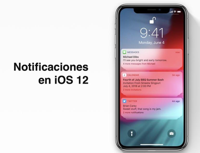 Notificaciones iOS 12 en grupo