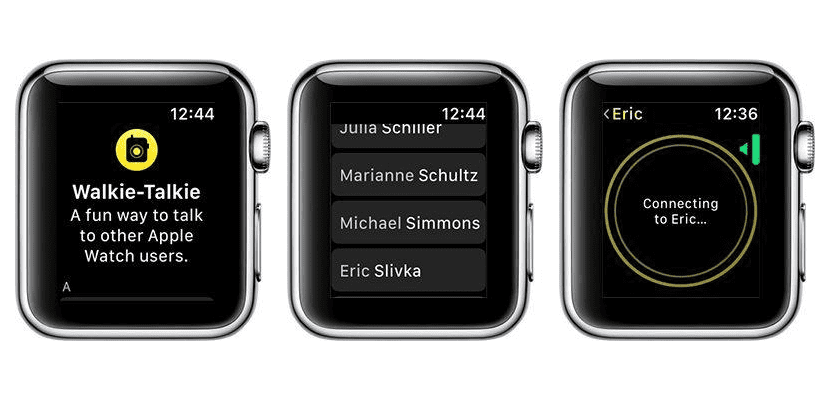La nueva app Walkie-Talkie llega al Apple Watch con watchOS 5 Beta 2