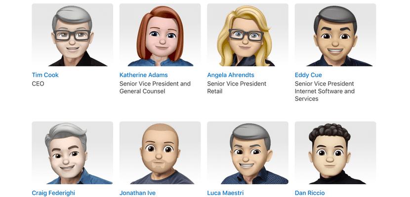 Para celebrar el día del Emoji, Apple ha transformado a toda su directiva en Memojis