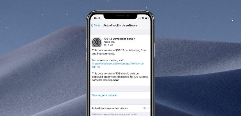 Apple lanza iOS 12 beta 7 para desarrolladores y perdemos funcionalidades