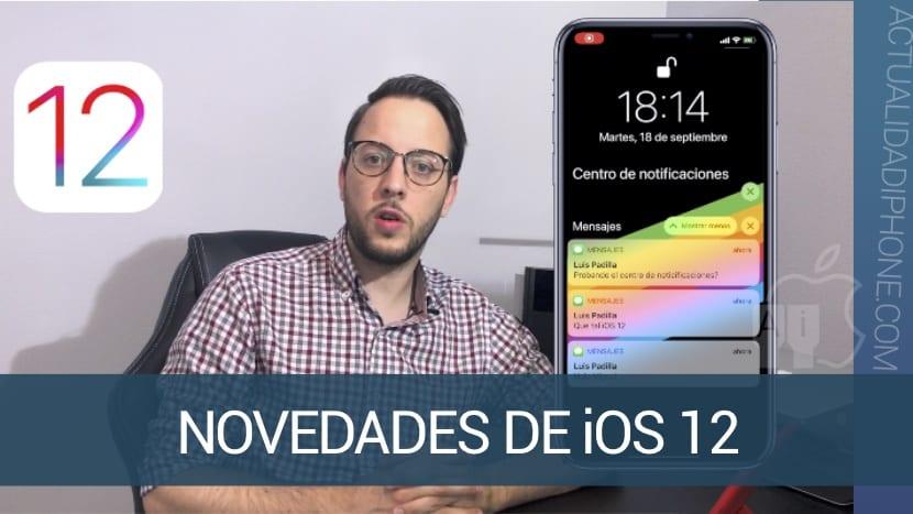 Te mostramos en vídeo todas las novedades de iOS 12