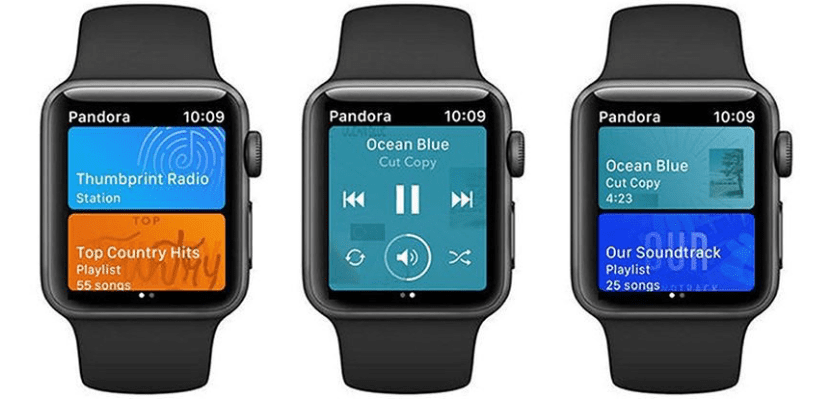 Pandora lanza su app para el Apple Watch permitiendo la descarga de canciones