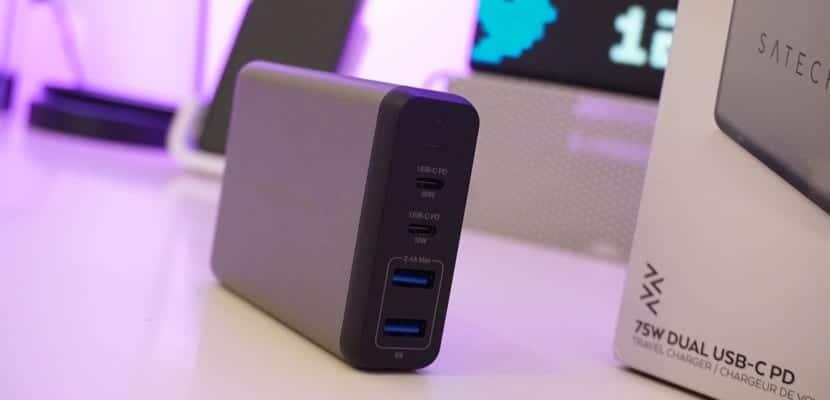 El Todo en Uno de los cargadores Satechi 75W Dual USB-C