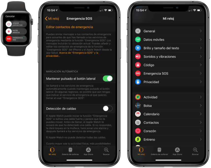Emergencias Apple Watch