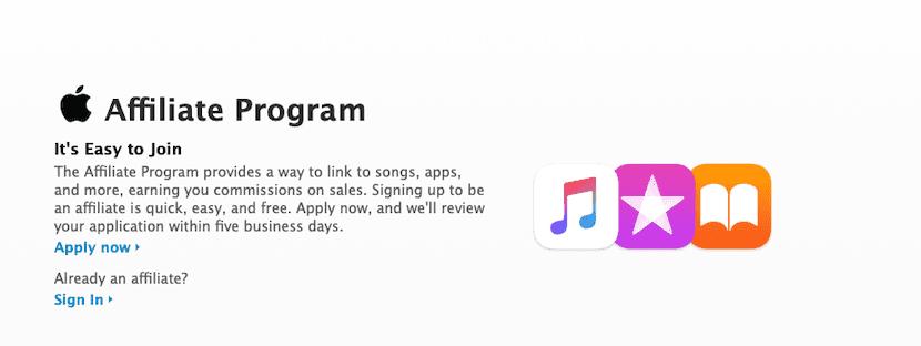 Programa de afiliados de Apple