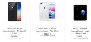 Modelos iPhone restaurados
