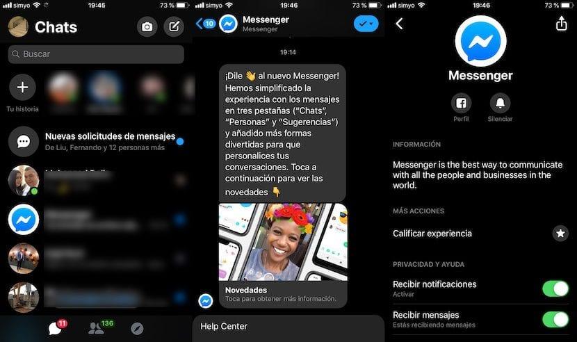 Activar modo oscuro Facebook Messenger