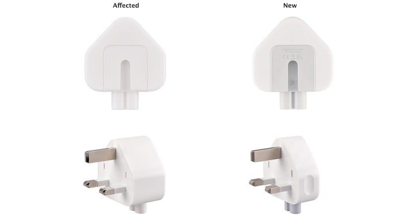 Programa de reemplazo gratuito para un enchufe de Apple