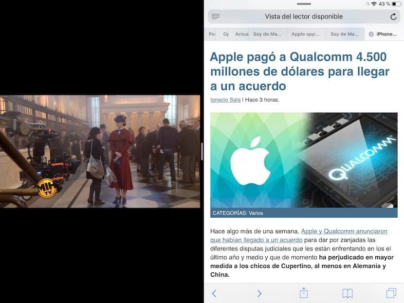 Plex - Pantalla partida iPad