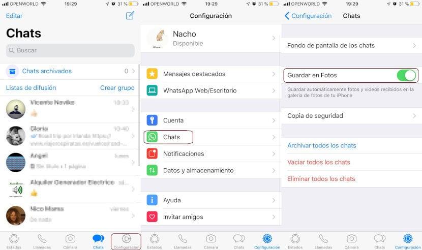 Evitar guardado automático fotos y vídeos WhatsApp en carrete