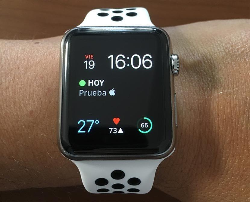 Logo de la manzana en Apple Watch.