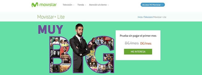 la nueva plataforma Movistar+ lite