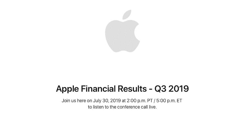 Resultados financieros Apple Q3 2019