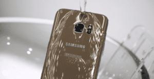 Smartphone Samsung resistente al agua
