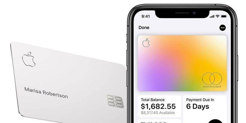 Apple Card vinculada al iphone