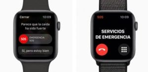 detección de caídas en el Apple Watch series 4