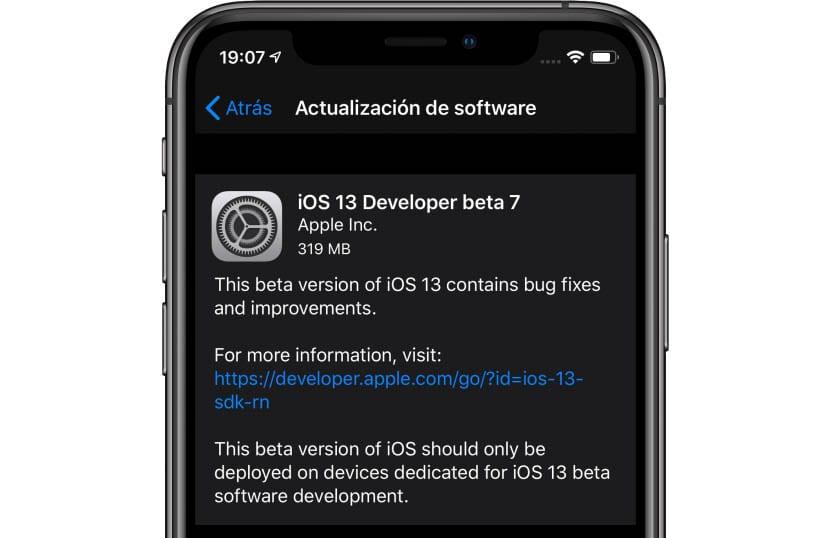 Se acaba de lanzar la séptima beta de iOS 13 y iPadOS para desarrolladores