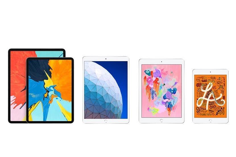 Toda la gama de iPad del 2019