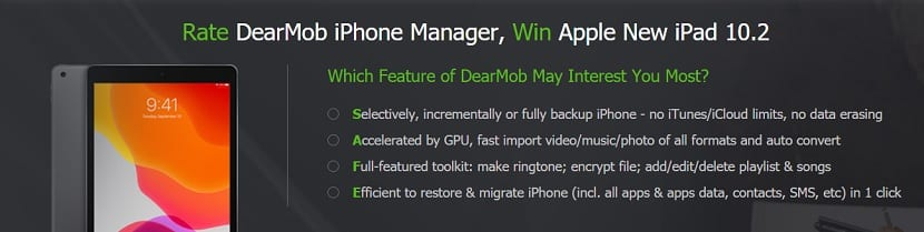 Ganar iPad DearMob iPhone Manager