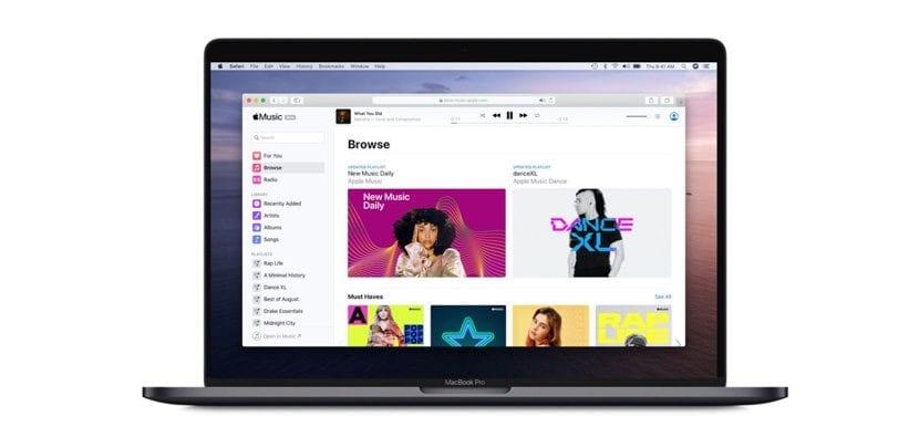 Web de Apple Music en fase beta