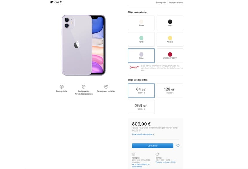 Envíos iPhone
