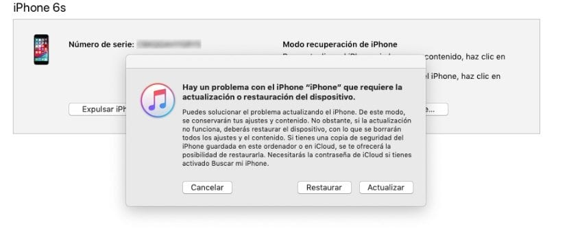 Restaurar iPhone