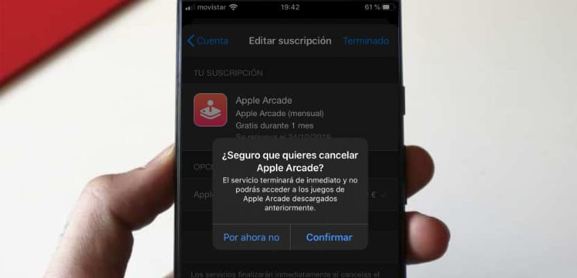 Cancelar Apple Arcade