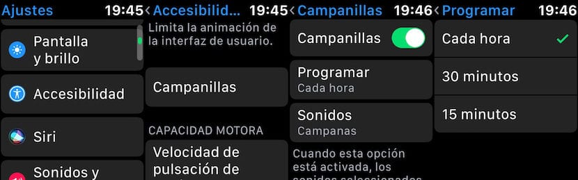 Activar alertas horarios Apple Watch