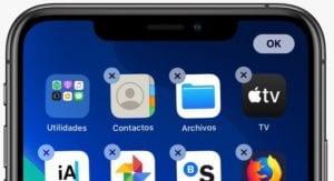Borrar aplicaciones en iOS 13