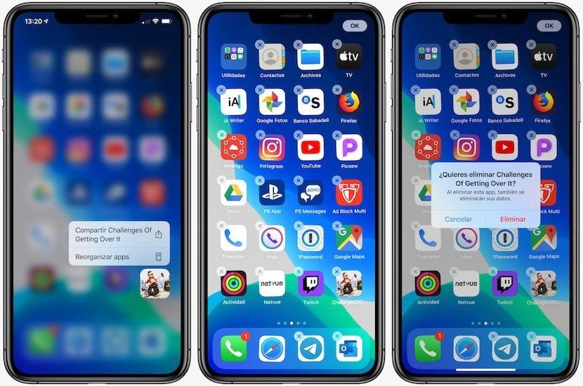 Borrar aplicaciones en iOS™ 13