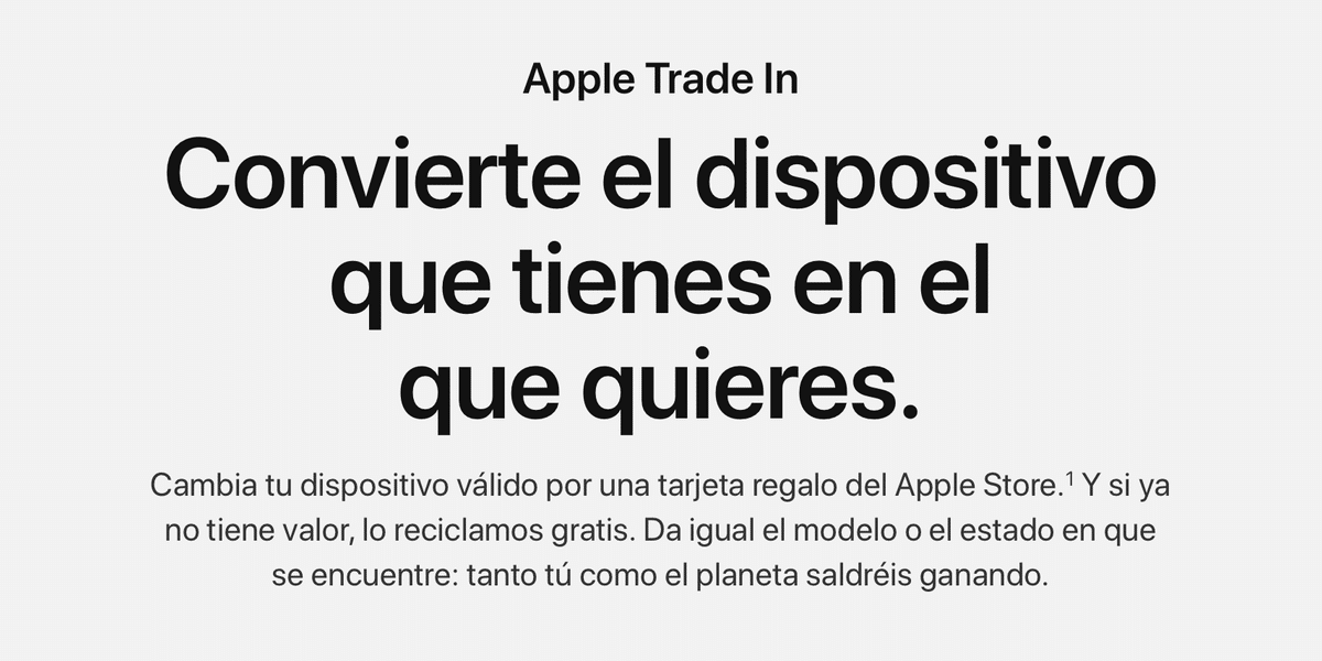 Apple devalúa los dispositivos acogidos al programa Apple Trade In